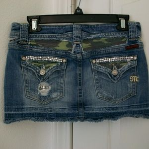 MISS ME Distressed/Destroyed Mini Skirt